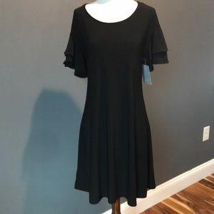 NWT soft glitter sleeve dress